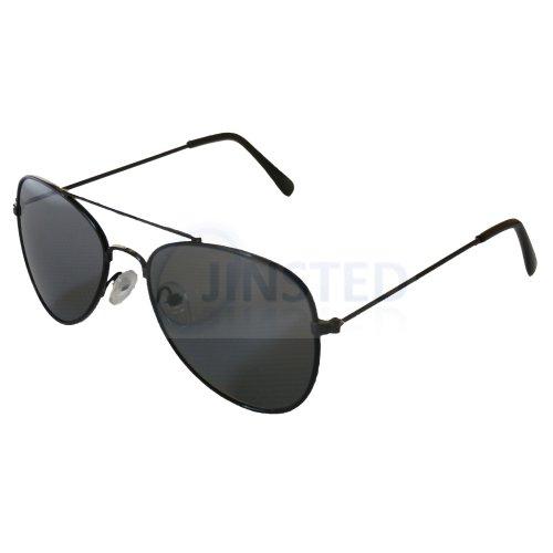 Childrens Black Aviator Sunglasses KA002