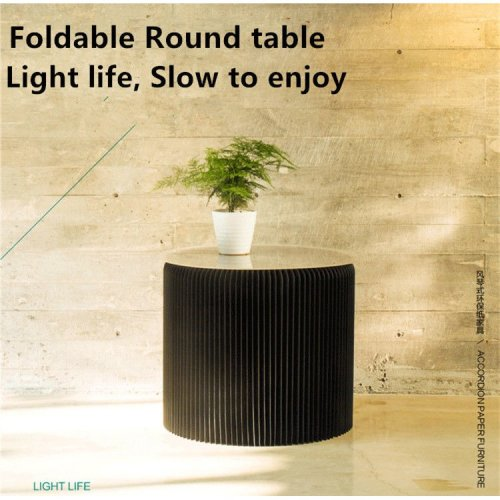 Furniture Modern Foldable Round table Paper Design Waterproof Chair