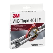 3 M VHB 4611F Double-Sided High-Performance Adhesive Tape, 19 MM x 3 M, Grey