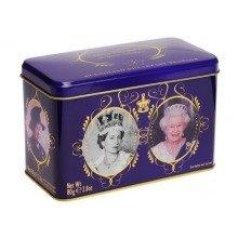 The Queens 40 Tea Bag Collectors Tin Royal Elizabeth II 2nd Jubilee 90 Birthday