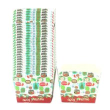 100PCS Home Square Cupcakes Cases Baking Paper Cups Cake Cup, No.4