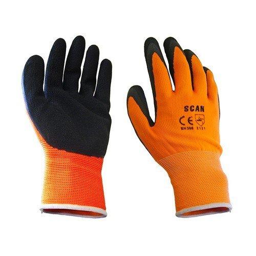 Scan 2ARK46J-24 Orange Foam Latex Coated Glove 13g - Large