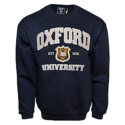 OU201 Unisex Licensed Oxford University Sweatshirt Navy