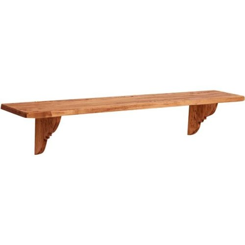 Solid  Lime Wood Natural Finish W120xdp22xh22 Cm Made In Italy Sized Wall Shelf.