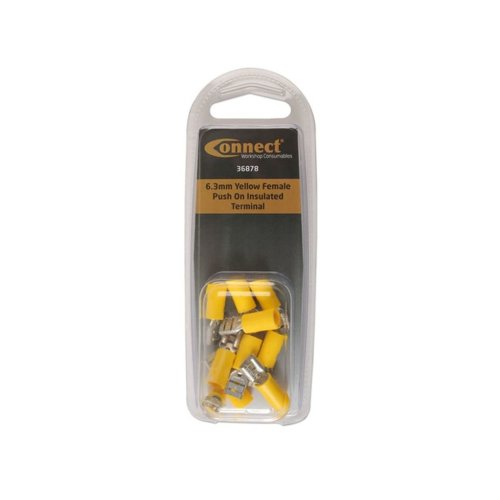 6.3mm Female Push On Insulated Terminal - Pack of 10