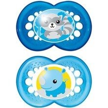 Mam Night Soothers & Travel Case 6m+ Blue