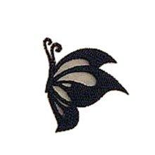 6 Pcs Exquisite Applique Patches DIY Patches Lace Embroidered Applique, Black #3