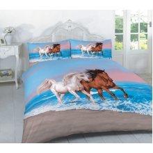 Animal Horses 3D Effect Duvet Cover Bedding Set