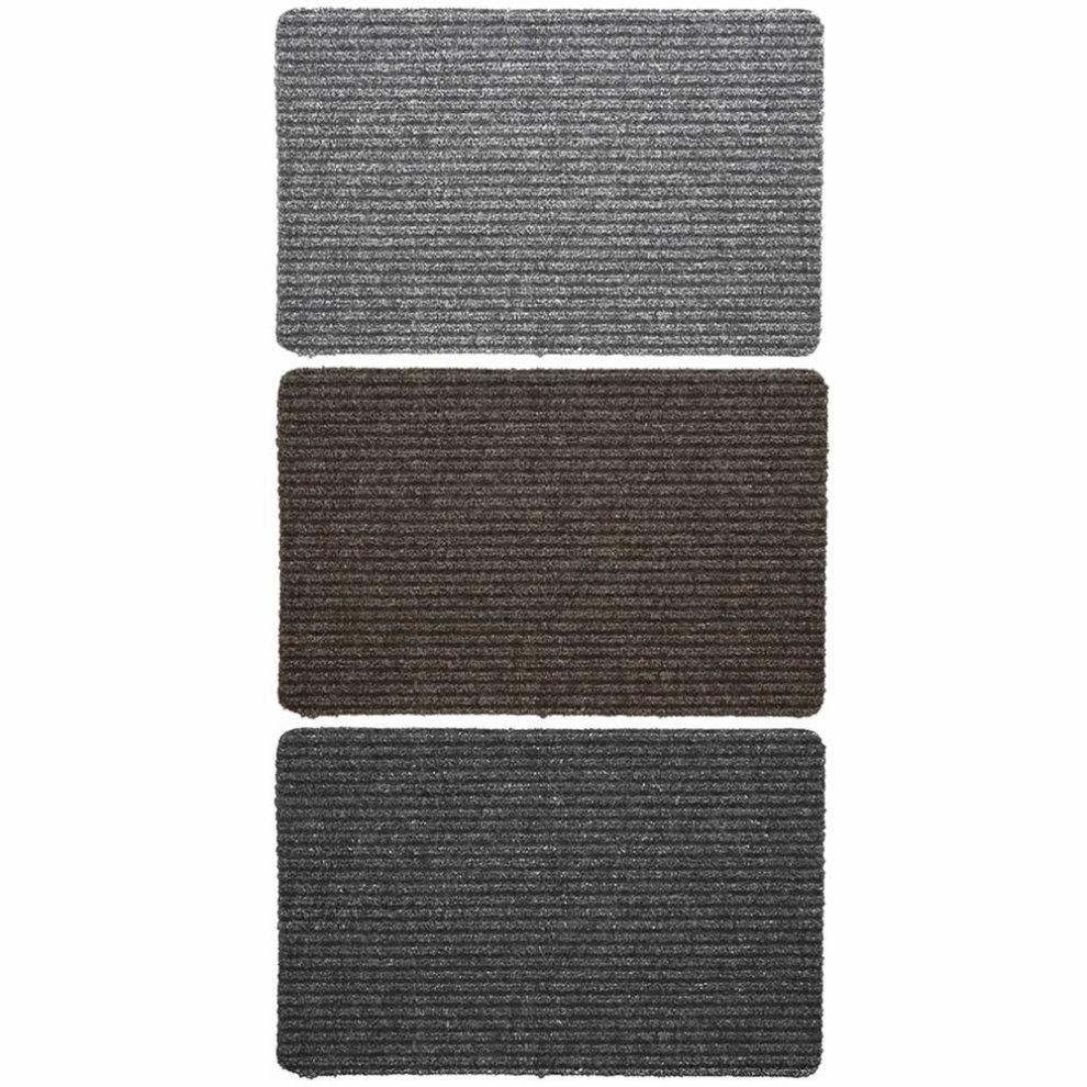Ribbed Non Slip Door Mat Indoor Doormat Kitchen Home Rubber Backed