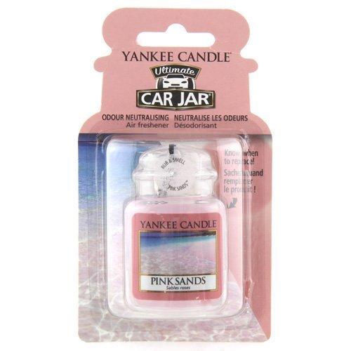 Yankee Candle 1238122E Car Freshener, Car Jar Ultimate, Pink Sands