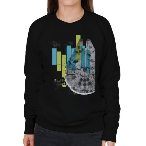 Star Wars Millenniumm Falcon Corellian Light Freighter Women's Sweatshirt