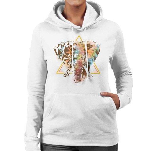 Geometric Elephant Women's Hooded Sweatshirt