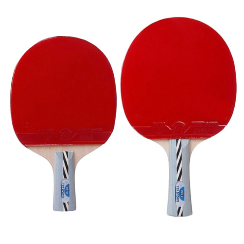 Set Of 2 Table Tennis Racket, Long & Short Wathet Blue Handle