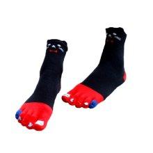 Soft Tube Cartoon Toe Scoks Cotton Home Socks