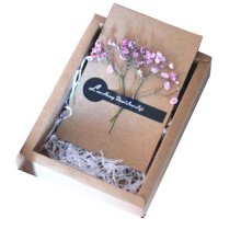 With Gift Boxes And Gift Bag Handmade Dried Flowers Thank You Cards