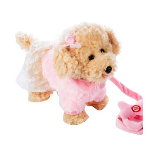 Electronic Plush Toy Dog Remote Control Machinery Pet-Pink/Sister