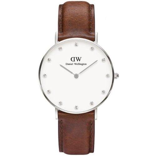 Daniel Wellington DW00100079 Watch Brown Leather Woman