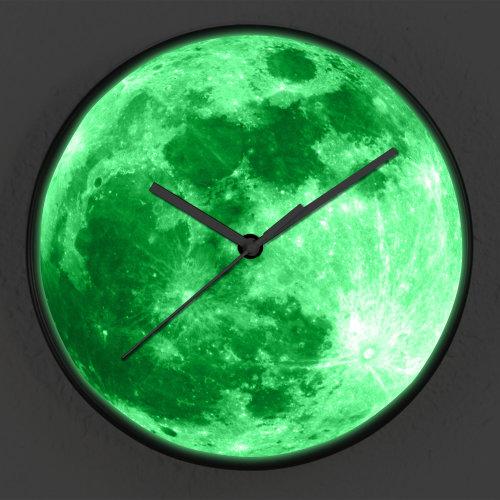 Glow in Dark Moon Children Room Wall Clock