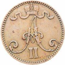 Finland 1865 5 Pennia Aleksandr II Coin Rare
