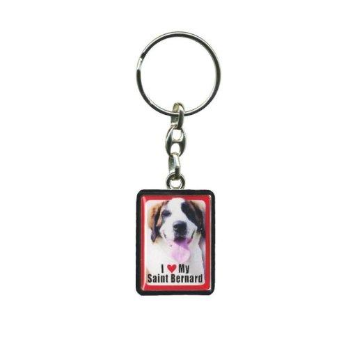 Saint Bernard Dog Keyring