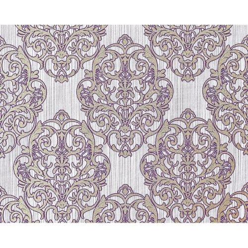 EDEM 648-92 3D non-woven baroque wallpaper XXL purple bronze glitter 10.65 sqm