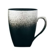 Ceramic Mug Tea Cup Retro Coffee Cup Breakfast Cup, Black And White Gradient Mug