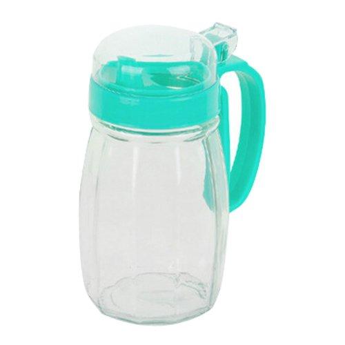 620ML Creative Kitchen Oil / Vinegar Cruet Square Glass Bottle Blue