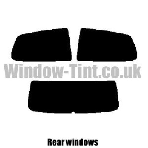 Pre cut window tint - VW Polo 3-door - 2005 to 2009 (Facelift) - Rear windows