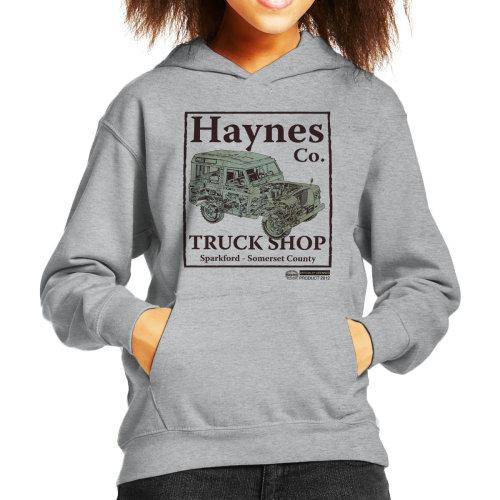 Haynes Brand Truck Shop Sparkford Land Rover Kid's Hooded Sweatshirt