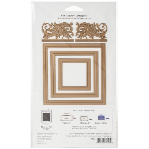 Spellbinders Amazing Papers Grace Glimmer Hot Foil Plate-Crowned Rimmed Squares