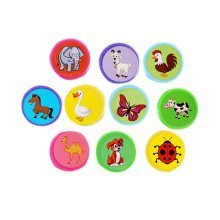 20Pcs Animal Adorable Stamper Stamp Pads Lovely Personalized Ink Stamps