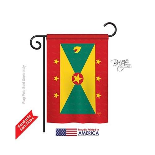 Grenada 2-Sided Impression Garden Flag - 13 x 18.5 in.