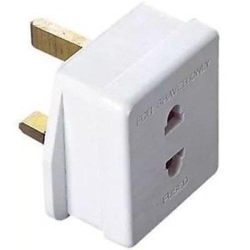1 AMP Electric Shaver Euro 2 Pin to UK 3 Pin Adaptor