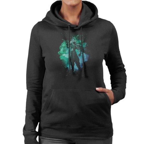 Soul Of The Meteor Cloud Strife Final Fantasy VII Women's Hooded Sweatshirt