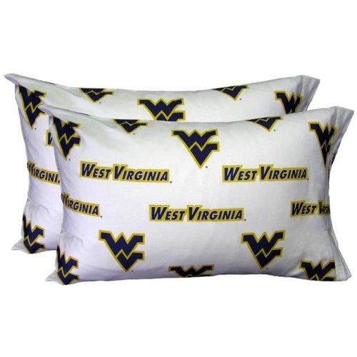 College Covers WVAPCSTPRW West Virginia Printed Pillow Case- Set of 2- White