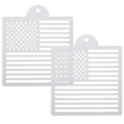 US Flag Drawing Stencil Templates for Scrapbooking Card Making TRIXES