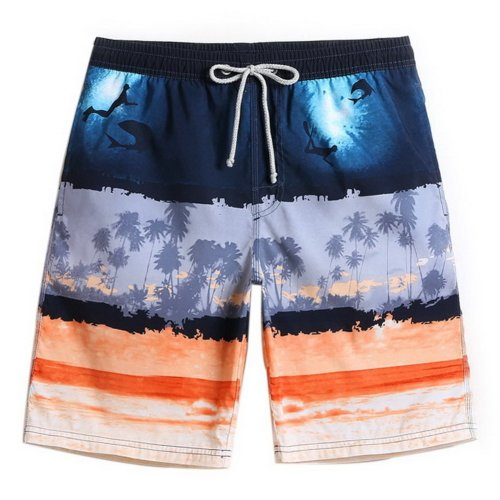 Men's Sports Casual Beach Loose Fashion Shorts, Sea World