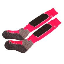 Warm Hiking Socks Wool Outdoor Skiing Socks For Women PINK, 4-6.5 Yards