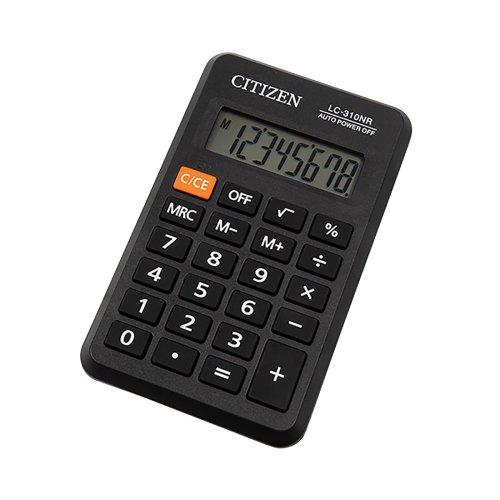 CITIZEN LC310 Pocket Calculator 8 Digit Business Line Pro Black