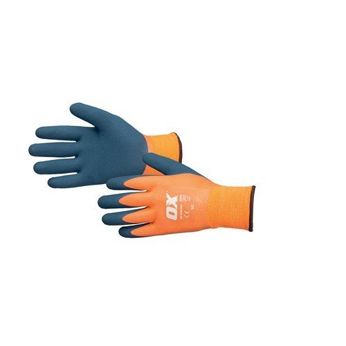 OX S483909 Waterproof Thermal Latex Glove Size 9 / Large
