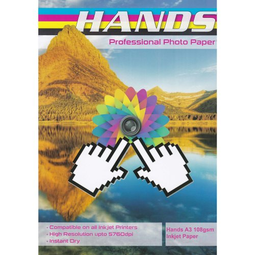 Hands A3 108gsm Inkjet Paper