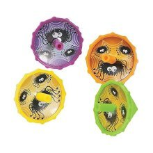 Halloween Plastic Spider Spin Top Party Favors - 14 pieces