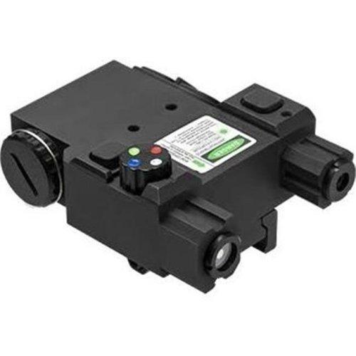 NcStar VLG4NVQRB Quick Release Laser Designator Box with Green Laser & LED Navigation Light