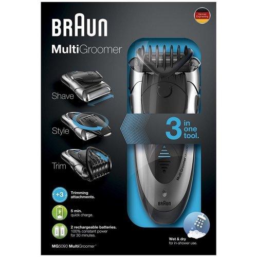Braun MG5090 Mens Multi Groomer Wet&Dry Shaver Rechargeable Styler Beard Trimmer