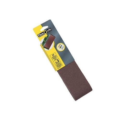 Flexovit 63642526469 Cloth Sanding Belts 533mm x 75mm 80g Medium Pack of 2