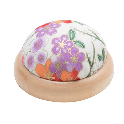 Set of 2 Pin Cushions for Sewing with Wood Base - 11