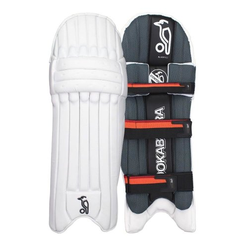 Kookaburra 2018 Blaze Pro Cricket Batting Pads Leg Guards White/Black