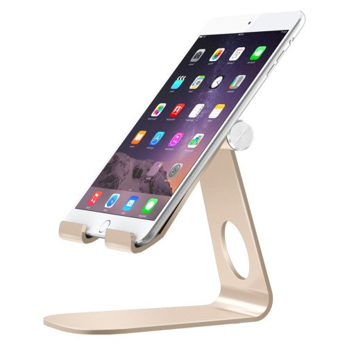 """MoKo Tablet Stand, Multi-Angle Adjustable Cellphone Desktop Holder for Devices(4-11""""), Compatible with iPad Pro 11 2018/10.5/9.7/Mini/Air, iPhone..."""