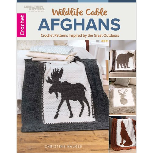 Leisure Arts-Wildlife Cable Afghans