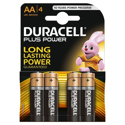 Duracell MN1500-B4 Plus Power AA Size 4 Batteries a pack - Pack of 20 (80 Batteries in total)